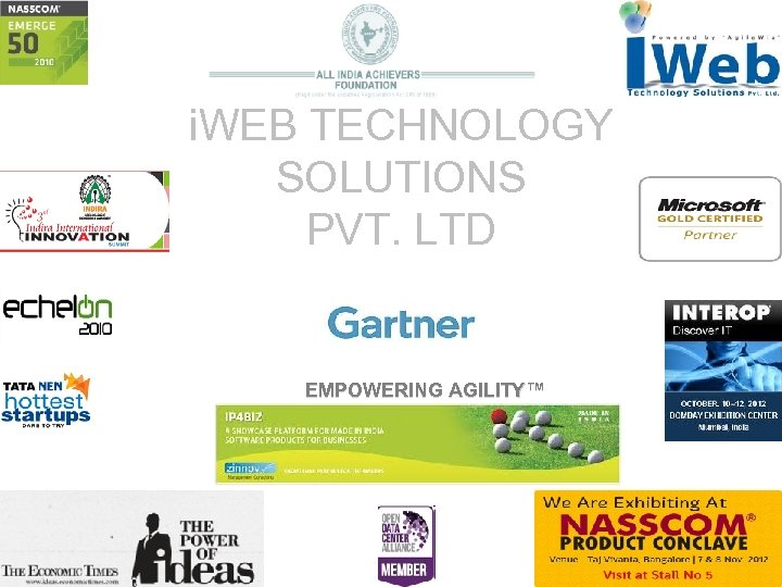 i. WEB TECHNOLOGY SOLUTIONS PVT. LTD EMPOWERING AGILITY™