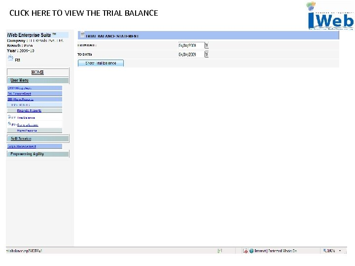 CLICK HERE TO VIEW THE TRIAL BALANCE