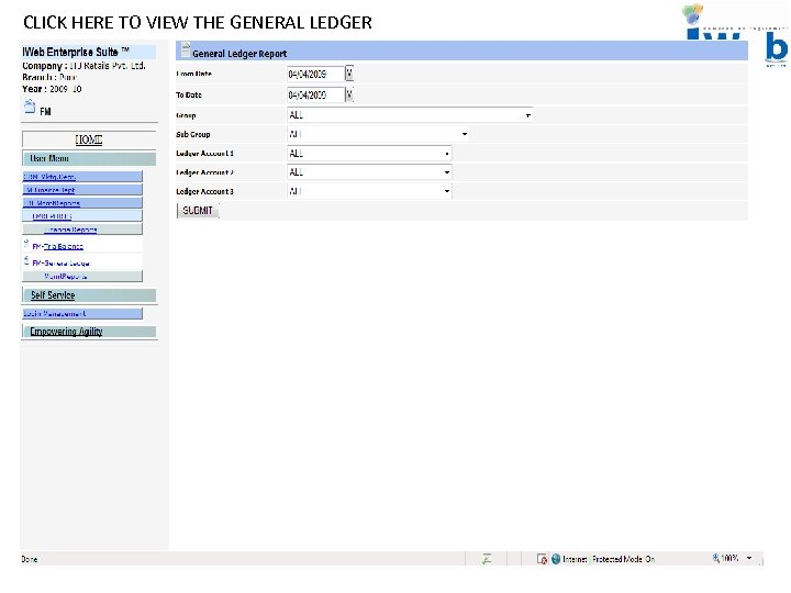 CLICK HERE TO VIEW THE GENERAL LEDGER