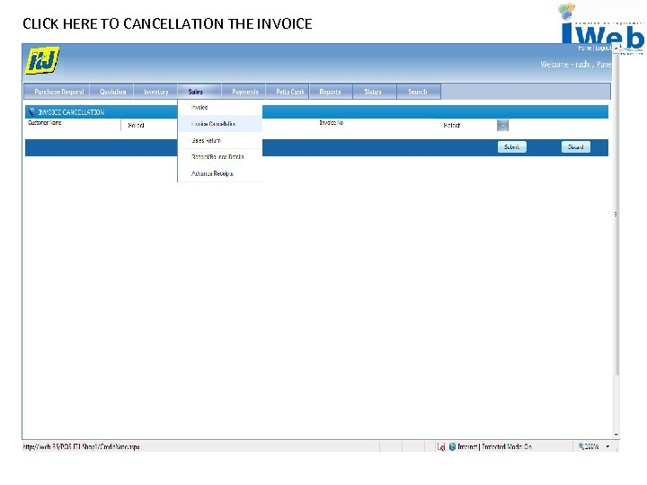 CLICK HERE TO CANCELLATION THE INVOICE