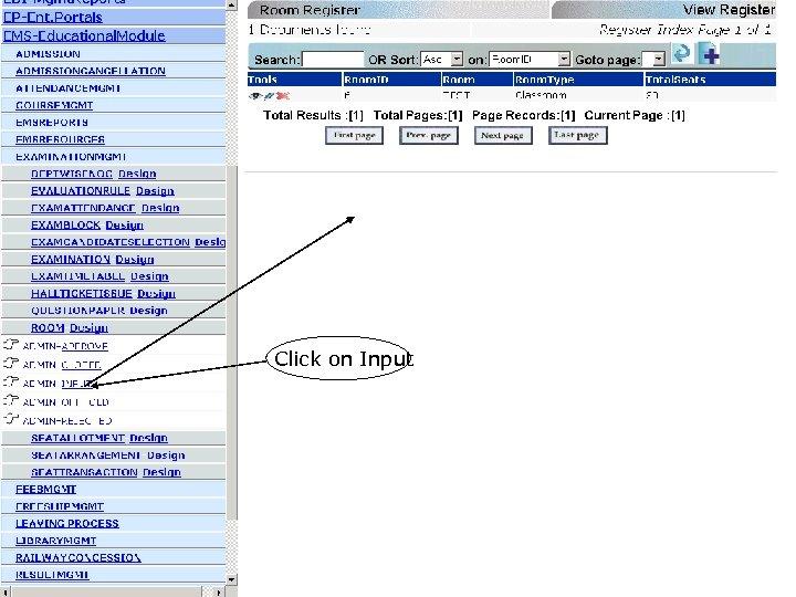 Click on Input