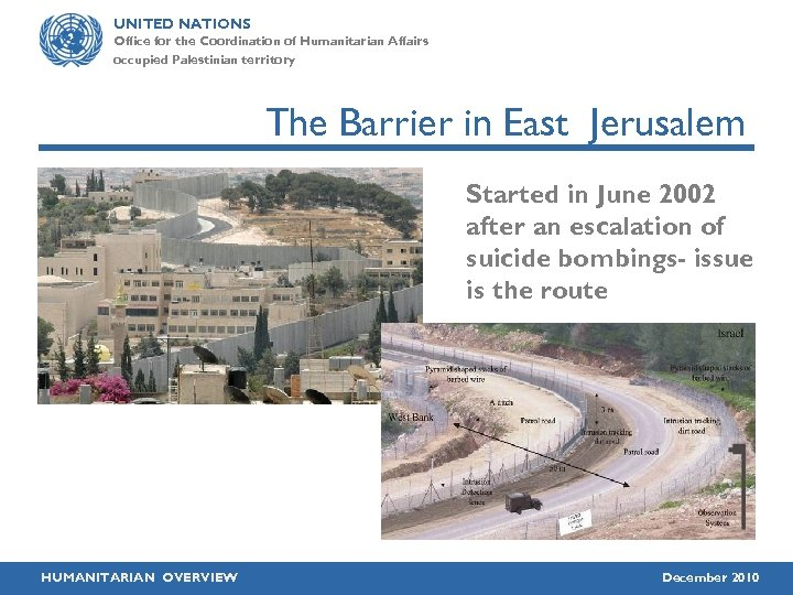 UNITED NATIONS Office for the Coordination of Humanitarian Affairs occupied Palestinian territory The Barrier