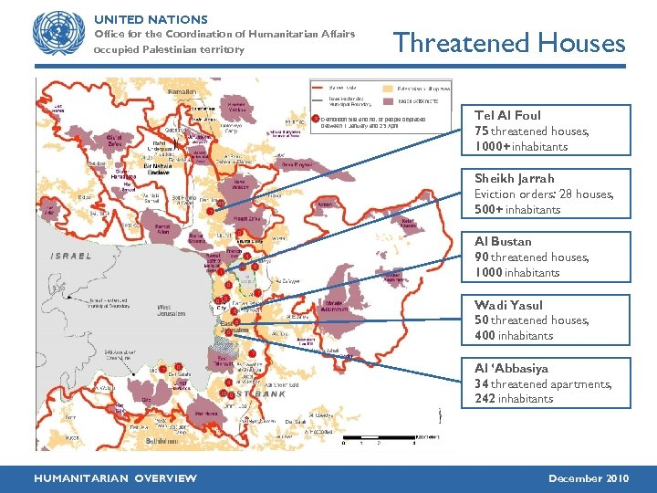 UNITED NATIONS Office for the Coordination of Humanitarian Affairs occupied Palestinian territory Threatened Houses