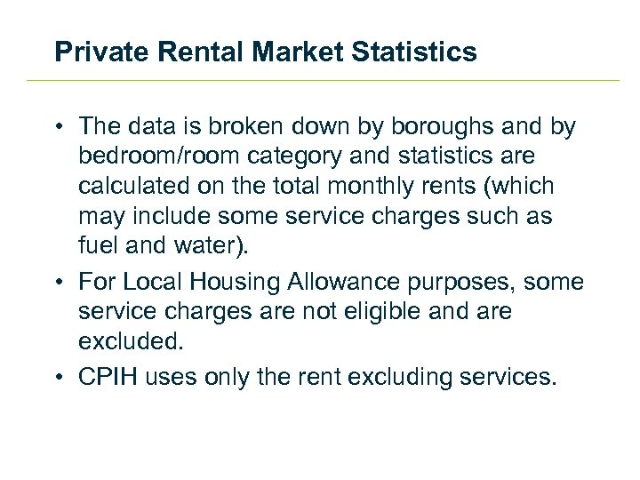 Private Rental Market Statistics • The data is broken down by boroughs and by