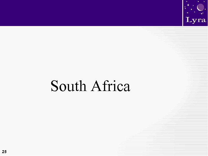 South Africa 25