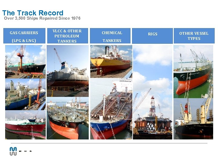 The Track Record Over 3, 500 Ships Repaired Since 1976 GAS CARRIERS (LPG &