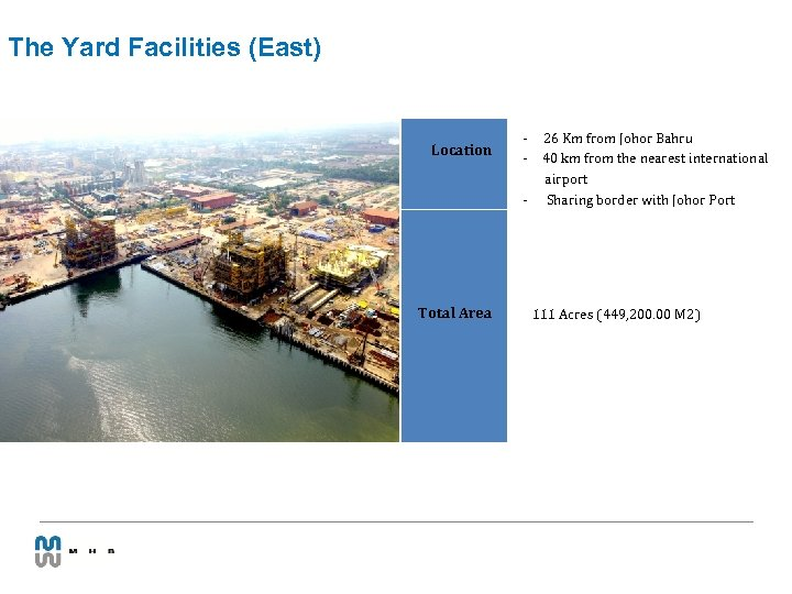 The Yard Facilities (East) Location - Total Area 26 Km from Johor Bahru 40