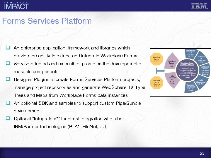 Forms Services Platform q An enterprise application, framework and libraries which provide the ability