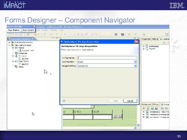 Forms Designer – Component Navigator 31