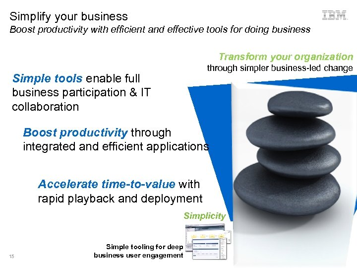 Simplify your business Boost productivity with efficient and effective tools for doing business Transform
