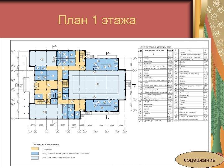 План 1 этажа содержание
