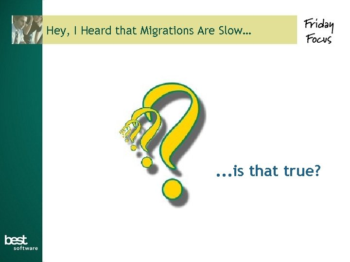 Hey, I Heard that Migrations Are Slow… . . . is that true?
