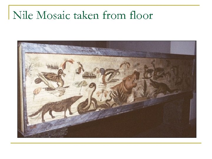 Nile Mosaic taken from floor