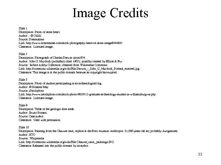 Image Credits Slide 1 Description: Photo of stone heart. Author: : © Olikli Source: