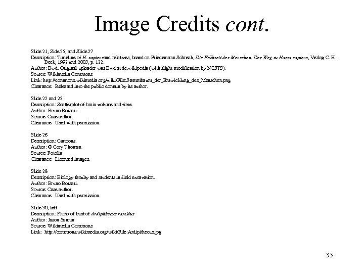 Image Credits cont. Slide 21, Side 25, and Slide 27 Description: Timeline of H.
