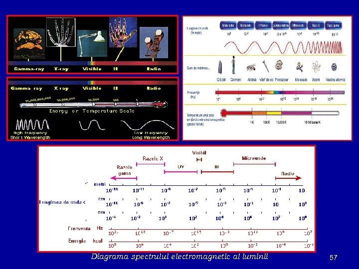 Diagrama spectrului electromagnetic al luminii 57