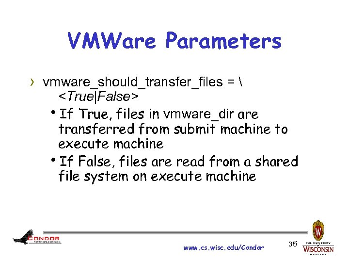 VMWare Parameters › vmware_should_transfer_files =  <True|False> h. If True, files in vmware_dir are