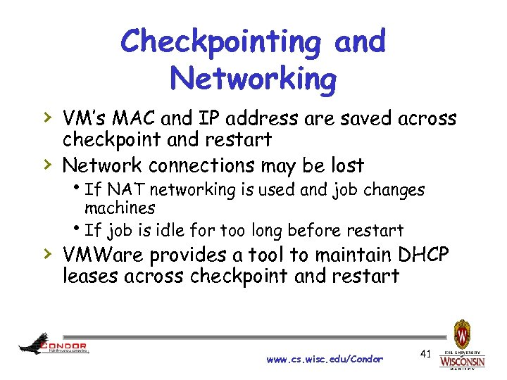 Checkpointing and Networking › VM's MAC and IP address are saved across › checkpoint