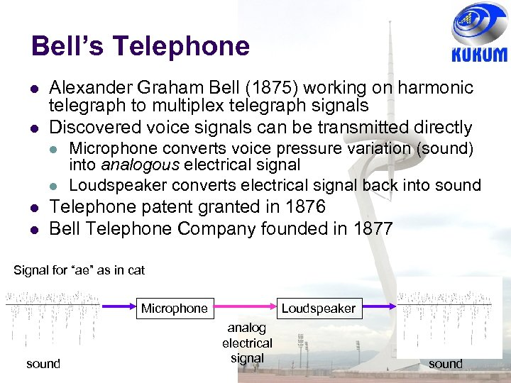 Bell's Telephone l l Alexander Graham Bell (1875) working on harmonic telegraph to multiplex