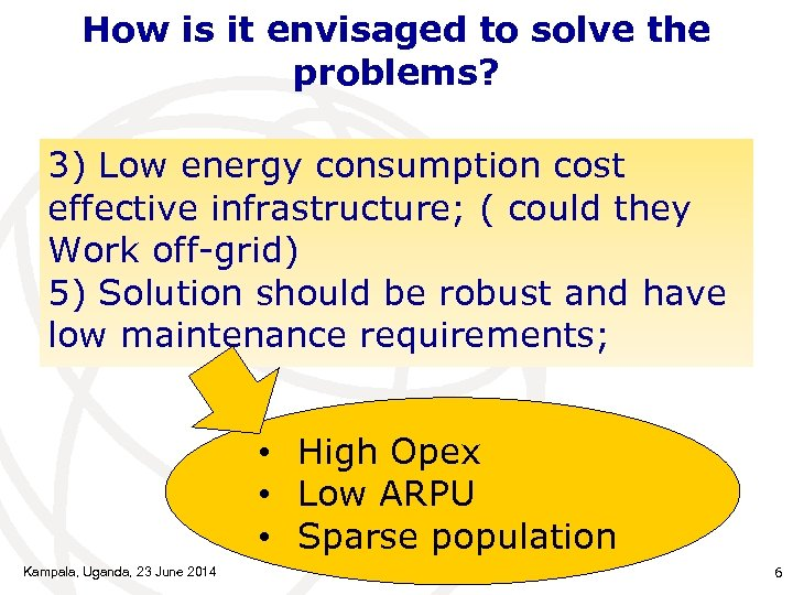 How is it envisaged to solve the problems? 3) Low energy consumption cost effective