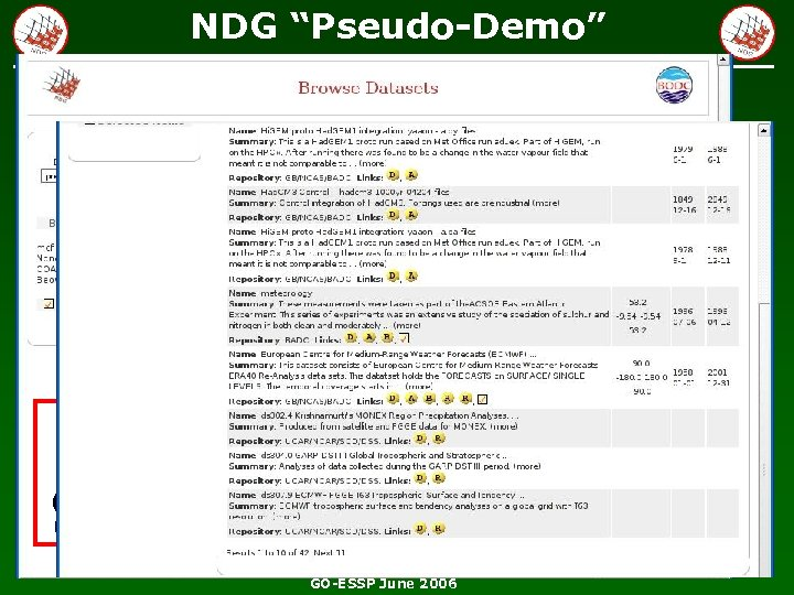 "NDG ""Pseudo-Demo"" EXPLOITING DISCOVERY WEB SERVICE (running interface on my laptop last night) GO-ESSP"