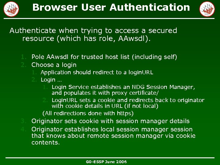 Browser User Authentication Authenticate when trying to access a secured resource (which has role,