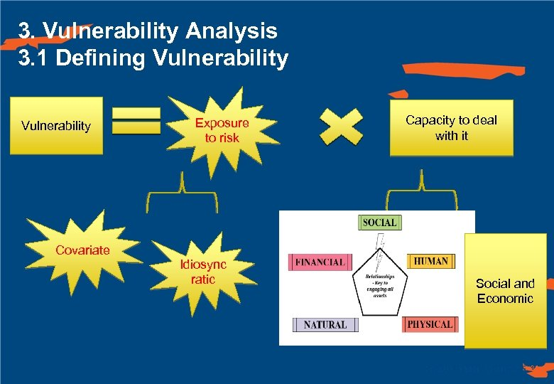 3. Vulnerability Analysis 3. 1 Defining Vulnerability Covariate Exposure to risk Idiosync ratic Capacity