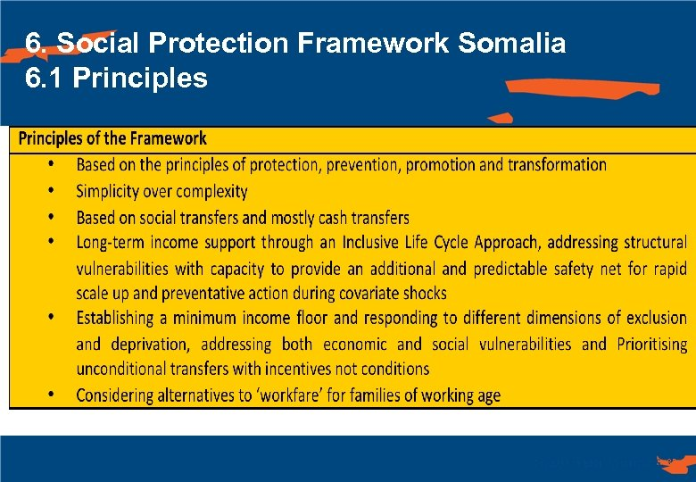 6. Social Protection Framework Somalia 6. 1 Principles 83