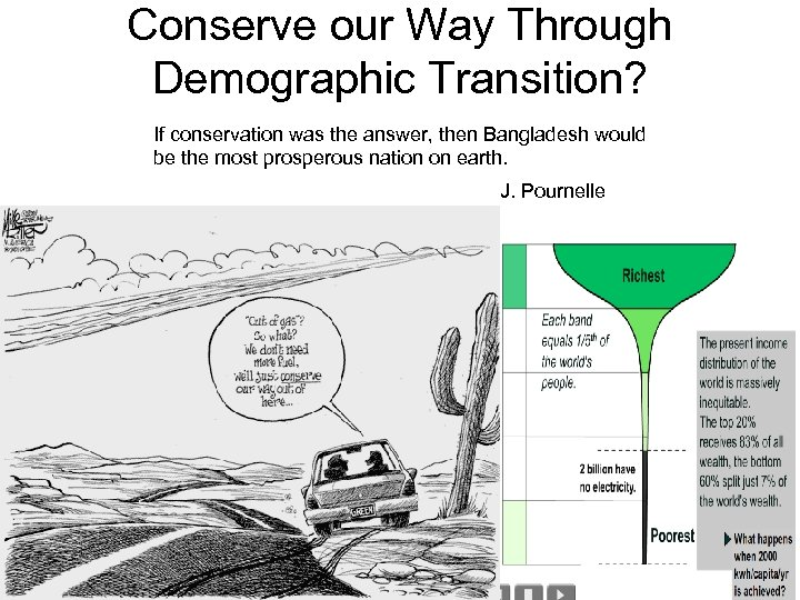Conserve our Way Through Demographic Transition? If conservation was the answer, then Bangladesh would