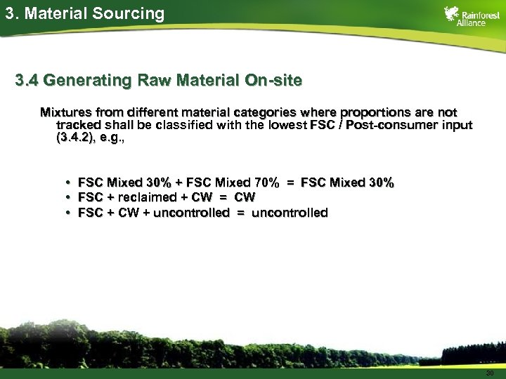 3. Material Sourcing 3. 4 Generating Raw Material On-site Mixtures from different material categories