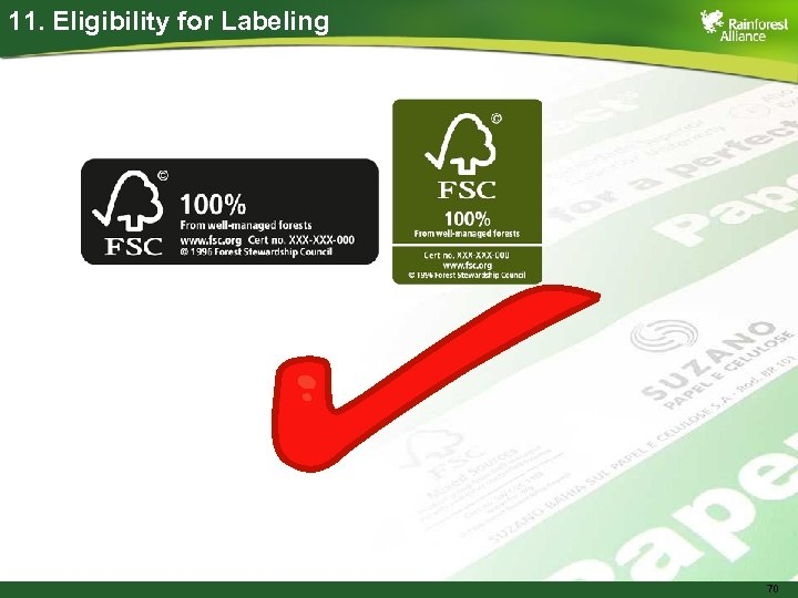 11. Eligibility for Labeling 70