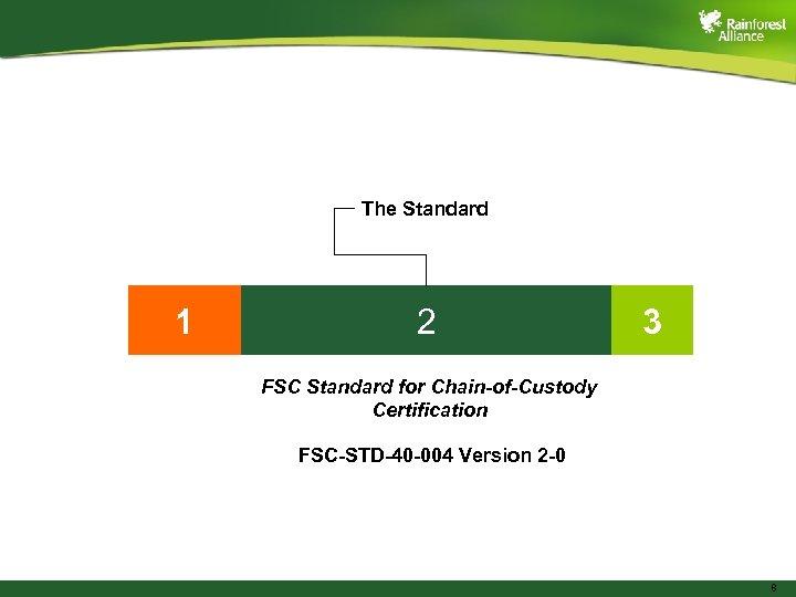 The Standard 1 2 3 FSC Standard for Chain-of-Custody Certification FSC-STD-40 -004 Version 2