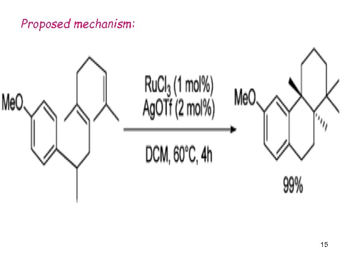 Proposed mechanism: 15