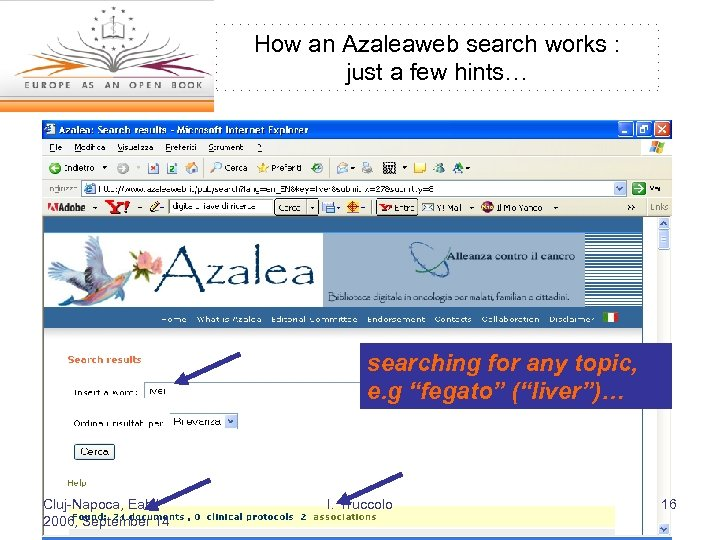 How an Azaleaweb search works : just a few hints… searching for any topic,