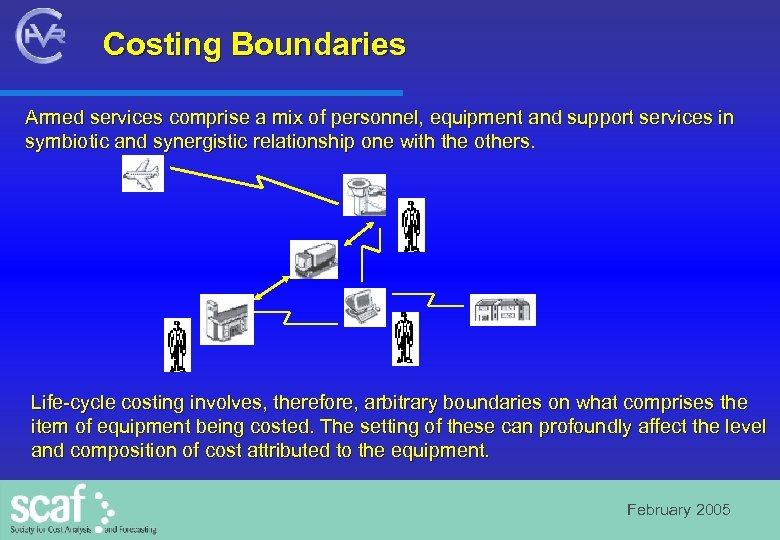 Costing Boundaries Armed services comprise a mix of personnel, equipment and support services in