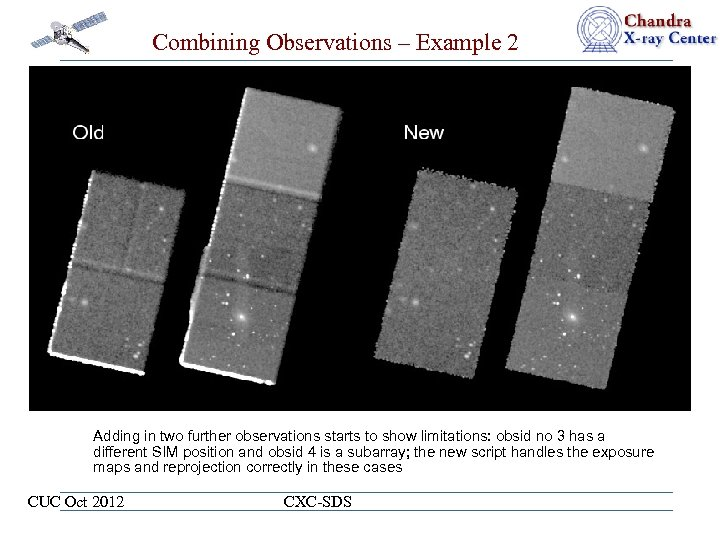 Combining Observations – Example 2 Adding in two further observations starts to show limitations: