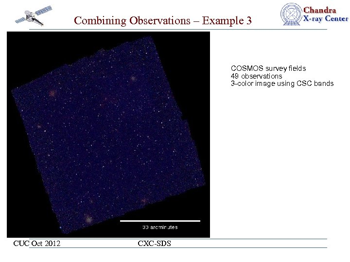 Combining Observations – Example 3 COSMOS survey fields 49 observations 3 -color image using