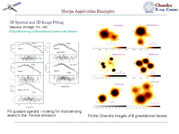 Sherpa Application Examples 1 D Spectral and 2 D Image Fitting Chen et al.