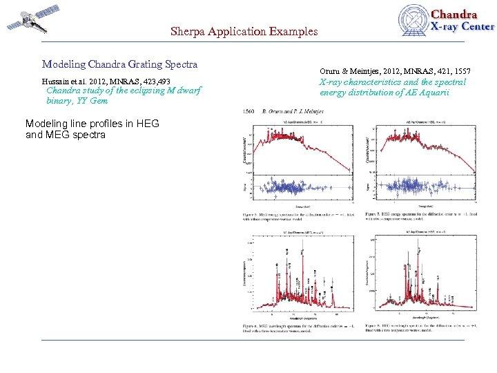 Sherpa Application Examples Modeling Chandra Grating Spectra Hussain et al. 2012, MNRAS, 423, 493
