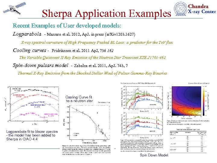 Sherpa Application Examples Recent Examples of User developed models: Logparabola - Massaro et al.