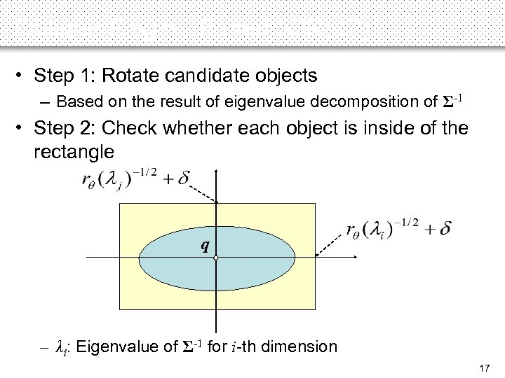 Oblique-Region-Based (OR) (2) • Step 1: Rotate candidate objects – Based on the result