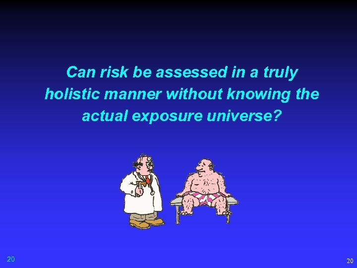 Can risk be assessed in a truly holistic manner without knowing the actual exposure