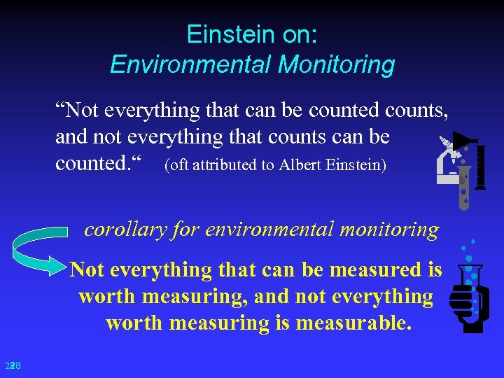 "Einstein on: Environmental Monitoring ""Not everything that can be counted counts, and not everything"