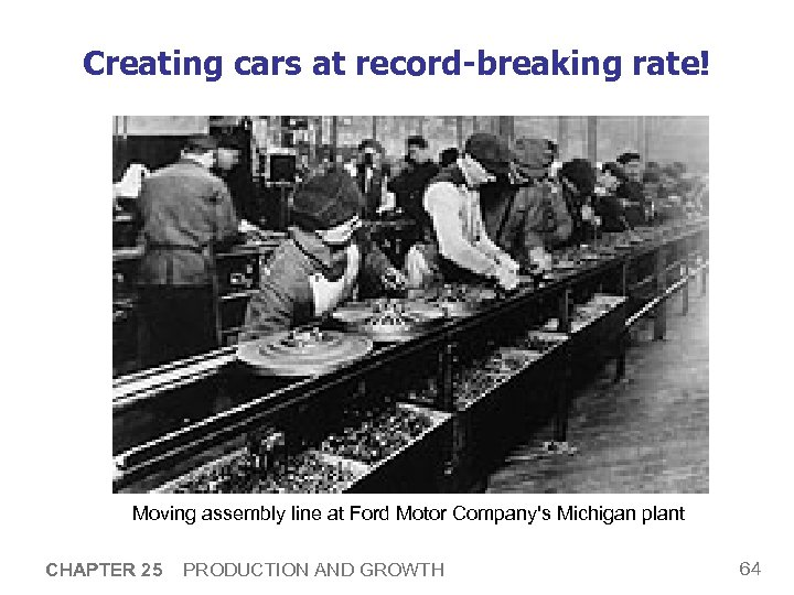 Creating cars at record-breaking rate! Moving assembly line at Ford Motor Company's Michigan plant