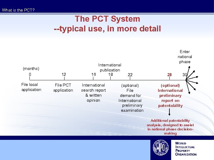 What is the PCT? The PCT System --typical use, in more detail (months) 0