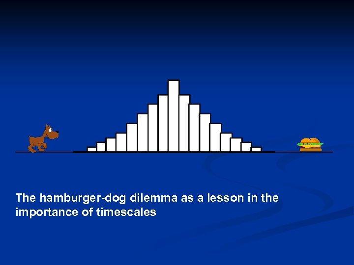The hamburger-dog dilemma as a lesson in the importance of timescales