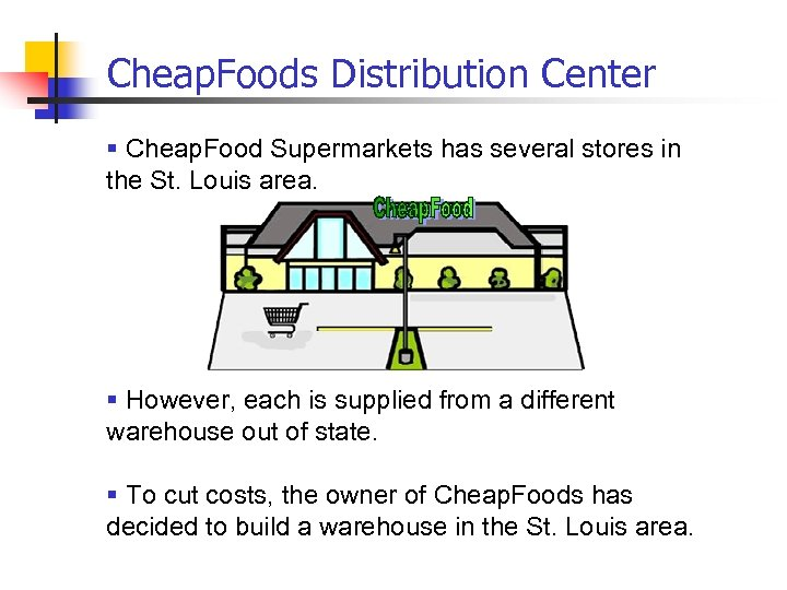 Cheap. Foods Distribution Center § Cheap. Food Supermarkets has several stores in the St.
