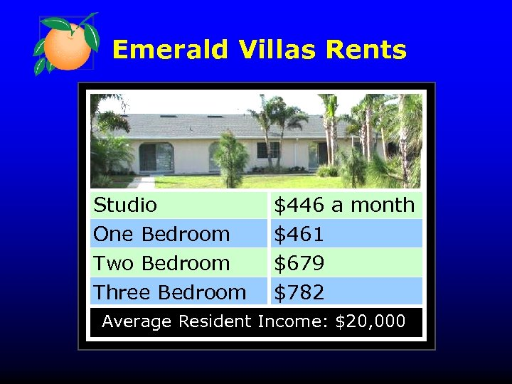 Emerald Villas Rents Studio One Bedroom Two Bedroom Three Bedroom $446 a month $461