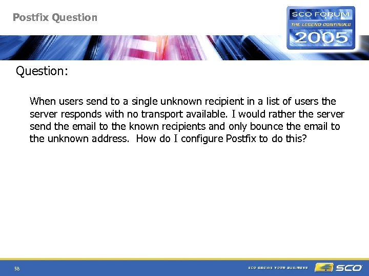 Postfix Question: When users send to a single unknown recipient in a list of