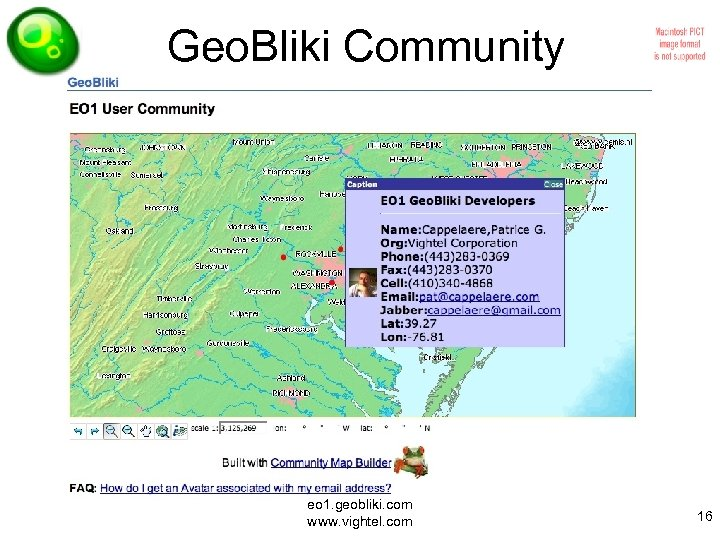 Geo. Bliki Community eo 1. geobliki. com www. vightel. com 16